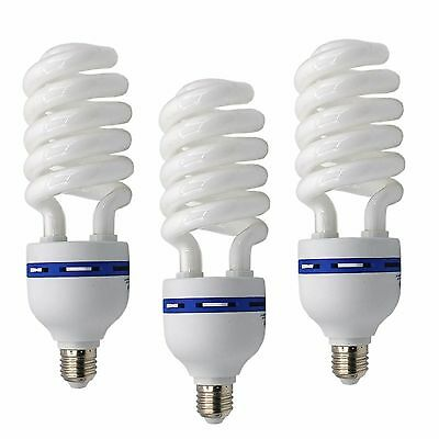3x Fotolampe Energiesparlampe SYD45 E27 3x 200W Tageslicht Lampe Studioleuchte