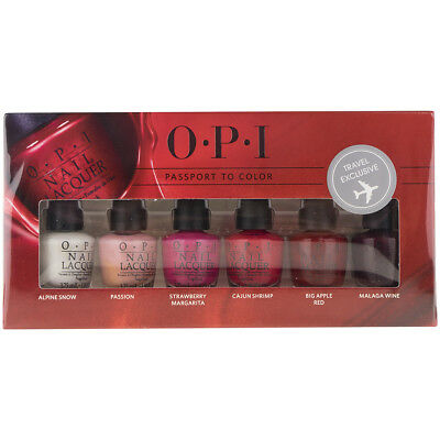 OPI - PASSPORT TO COLOR - 6 x 3,75ML OVP #81-3-4