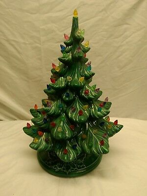 Ceramic Christmas Tree With Lights.Vintage Ceramic Christmas Tree Lights 70 S Mid Century Modern Large 17