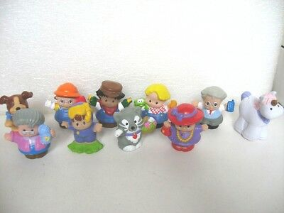 10 Figurines Little People Personnages Animaux G4