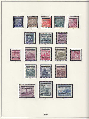 NAZI PROTECTORATE Bohemia and Moravia COMPLETE COLLECTION 1939-1945 -MNH/used