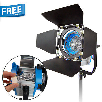 300W Photo Studio Spotlight Fresnel Tungsten Video Lighting Light with Free Bulb