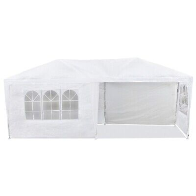 Carpa impermeable 3x6m para eventos 6 paredes con ventana color Blanco –McHaus