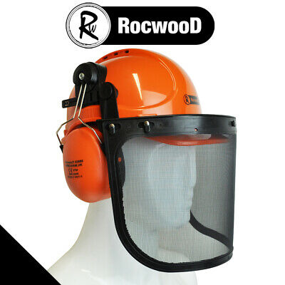 Rocwood Chainsaw Brushcutter, Safety Helmet, Hard Hat With Visor And Chin Strap