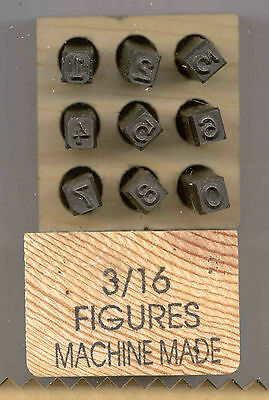 """Young Brothers Steel Stamps Machine Made 3/16"""" Figures Hand stamps"""