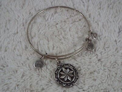 ALEX and ANI Compass Expandable Rafaelian Silver Charm Bracelet (C17)