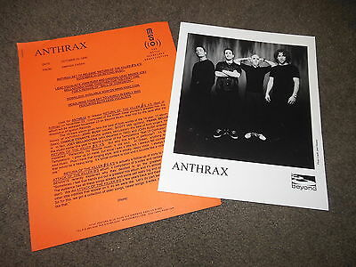 ANTHRAX Return Of The Killer A's Press Kit With 8x10 Promo Photo