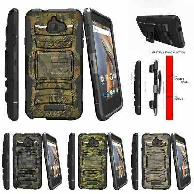 For CoolPad Catalyst | CoolPad 3622A Holster Clip Stand Case Abstract Camouflage