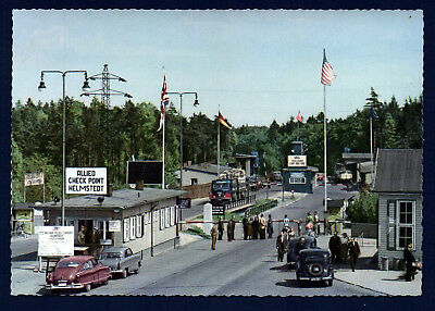 ALLIED CHECK POINT HELMSTEDT German - 1950s POSTCARD H 240/8014