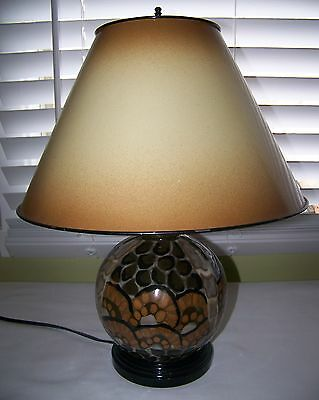 FAB Authentic Made in France signed CAMILLE THARAUD LIMOGES ART DECO table LAMP