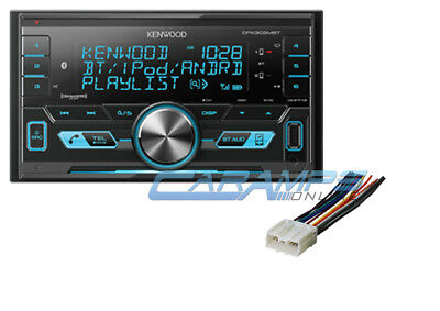 Kenwood Double Din Car Stereo Radio W/ Install Parts & Sirius Xm & Bluetooth
