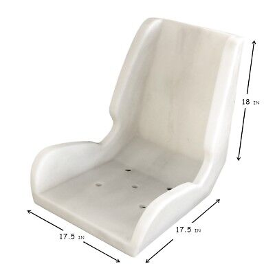 Larson Plastic Bucket Seat Shell Seat with Back Divot