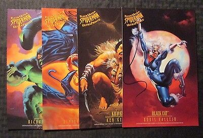 "1990 Fleer Ultra 6.5x10"" SPIDER-MAN ULTRAPRINTS Lot of 8 (NM) Carnage Venom ++"