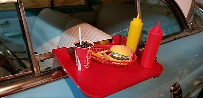 "Rare ""SONIC"" Drive-In Red Plastic Car Hop Window Food Tray, Made in U.S.A. ~ EUC"