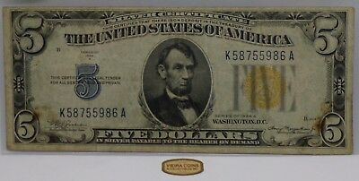 F-2306  1934-A North Africa Silver Certificate One Dollar, Yellow Seal -#B1236