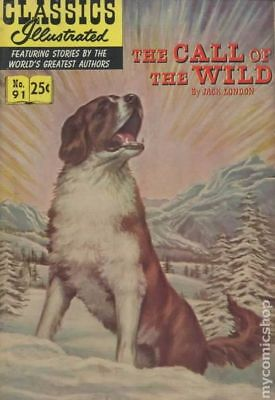 Classics Illustrated 091 The Call of the Wild #11 1970 VG+ 4.5 Stock Image