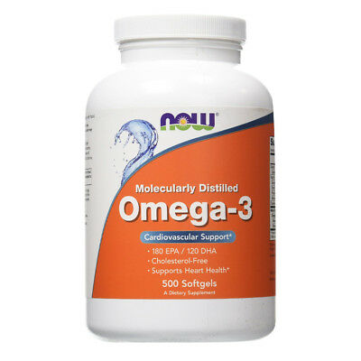 NOW FOODS Omega-3 Molecularly Distilled (180 EPA / 120 DHA) - 500 perle