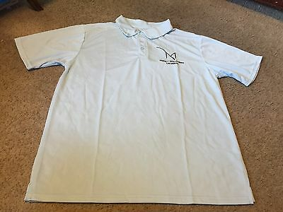 Nice men's size L Large M Resort Casino Las Vegas baby blue polo golf shirt NEW