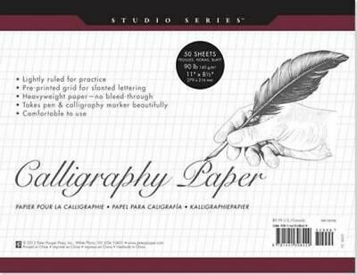 NEW Studio Series Calligraphy Paper Pad (Set of 50 Sheets) Other Merchandise