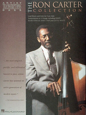 RON CARTER COLLECTION Jazz Bass Solo Sheet Music 19 Songs Hal Leonard Book  NEW