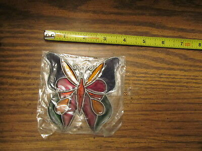 Butterfly Suncatcher Sun Catcher Stained Glass-style window hanging