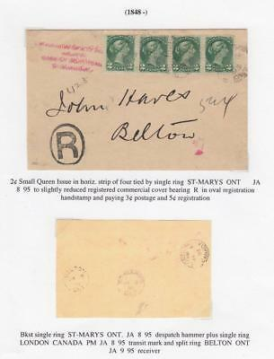 CANADA SUPERB STRIP OF 4 2cts SMALL QUEENS MUST SEE WRITE UP SUPERB SUPERB