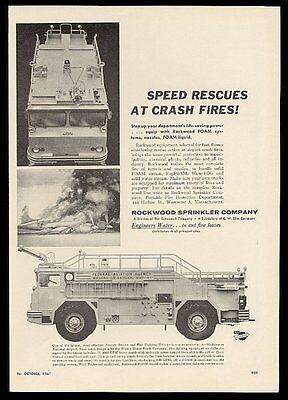 1961 Washington DC National Airport aircraft rescue fire truck photo Rockwood ad