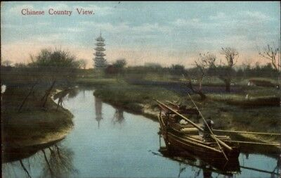China - Country View - Published in Shanghai c1910 Postcard chn