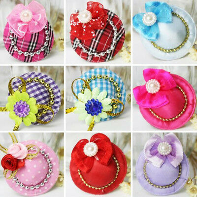 1Pc Cute Caps Design Dog Hair Bows Pet Cat Alligator Clips Grooming Accessories