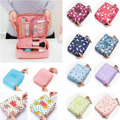 Travel Makeup Cosmetic Toiletry Case Wash Organizer Storage Pouch Hanging Bag H