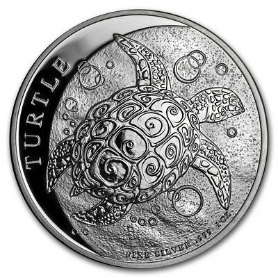 NIUE 2 Dollars Argent 1 Once Tortue 2018 -