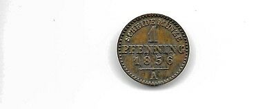 Germany Prussia 1856 a 1 one pfenning coin