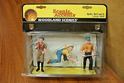 WOODLAND SCENICS SPIKE, NEIL and TY G SCALE FIGURES