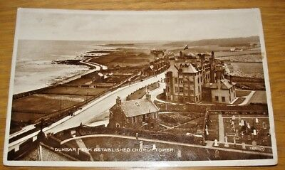 Dunbar From Established Church Tower. Real photo postcard posted in 1933