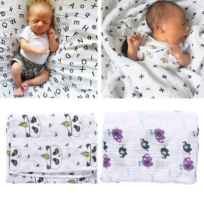 Baby Muslin Cotton Flamingo Wrap Swaddling Blanket Newborn Infant Swaddle Towel