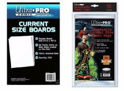 50 Ultra Pro Premade Resealable Current Comic Book Storage Bags & Backer Boards