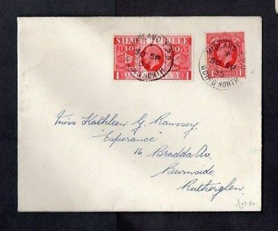 1935.COVER.'MIDLAND TRAVELLING POST OFFICE GOING NORTH' CDS.2xGEO V STAMPS