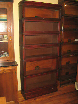 WE SHIP! Globe Wernicke Solid Mahogany 6 Stack Barrister Bookcase w/Drawer