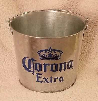 Corona Extra Galvanized Bucket Pail Tin 6 Quart Ice Beer Cooler