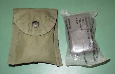 US Military Issue OD Green Alice LC1 First Aid Compass Pouch Compressed Bandage