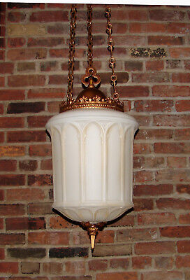 Antique Vintage Gothic Glass Chandelier Ceiling Light Fixture - Large, Unique