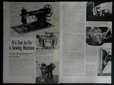 Treadle Sewing Machines 1950 How-To Repair & Tune up INFO White Rotary & More