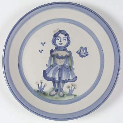 M A Hadley COUNTRY SCENE BLUE Wife Dinner Plate 5757465