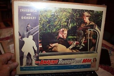 The Amazing Transparent Man Title Vintage Original Movie Lobby Card 1959