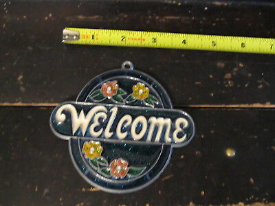 Welcome Suncatcher Sun Catcher Stained Glass-style window hanging