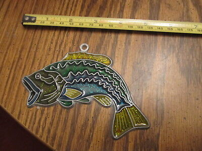 Fish Suncatcher Sun Catcher Stained Glass-style window hanging