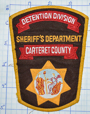 North Carolina, Carteret County Sheriffs Dept Detention Division Patch