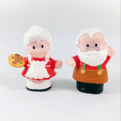 Lot2pcs Fisher Price Little People Santa Workshop Figure Christmas Toy Baby Gift