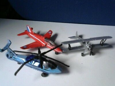 3 Die-Cast Matchbox and Other Brand Planes and Helicopter