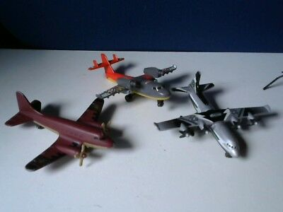 3 Die-Cast Matchbox and Mattel Planes